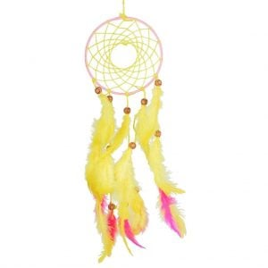 Pink & Yellow Dream Catcher