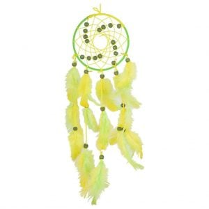 Spiral Green & Yellow Dream Catcher