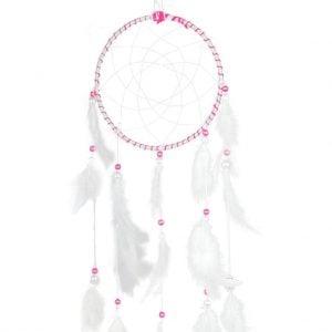 White & Pink Dream Catcher