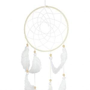 WHITE & GOLDEN DREAM CATCHER