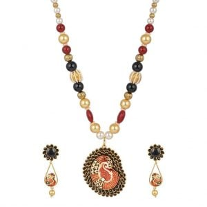 Pachi & Meenakari Necklace Set