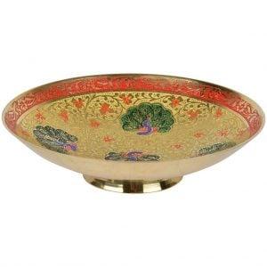 Vincraft Metal Decorative Bowl (14 cm x 14 cm x 4 cm)