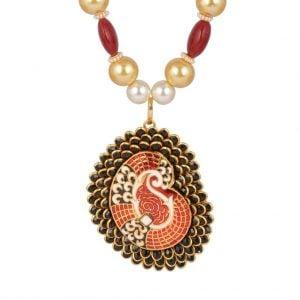 Pachi & Meenakari Necklace Set