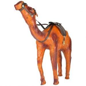 Vincraft Wood Camel Figurine (30 cm x 8 cm x 33 cm, Brown)