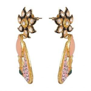 Kundan – Nude Earrings