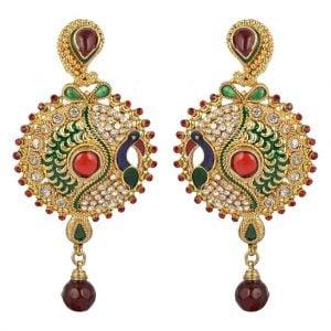 Multi Colour – Peacock Earrings