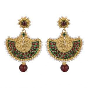 Golden Chandbali Earrings