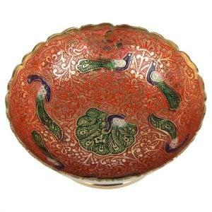 Vincraft Metal Decorative Bowl (11 cm x 11 cm x 4 cm)