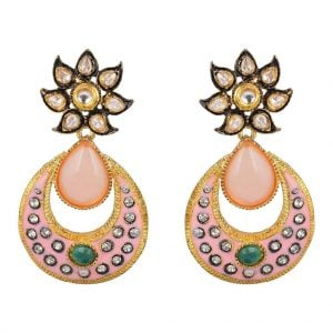 Kundan – Nude Earrings