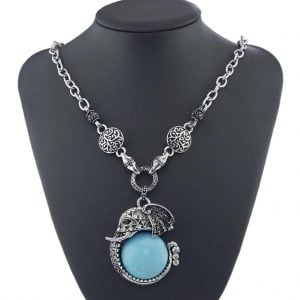 Rhinestone Antique Pendant Necklace
