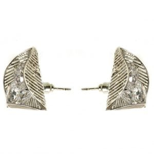 Silver Diamond Studs