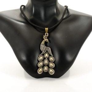 Antique Peacock Necklace Charm