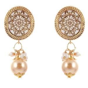 White & Golden Necklace Set