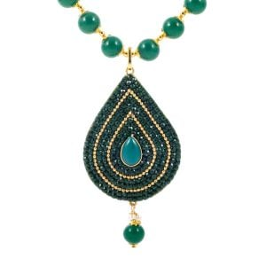 Ethnic Green Necklace Set
