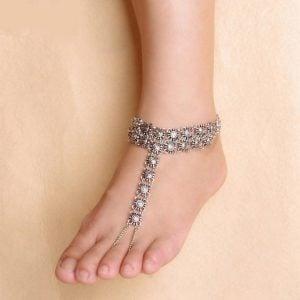 Boho Silver Anklet
