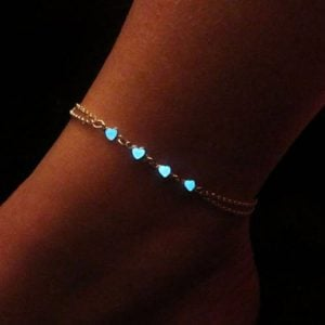 Neon Heart Anklet