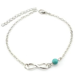 Silver Infinity Anklet for Women