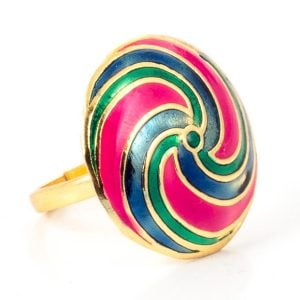 Colourful Statement Ring