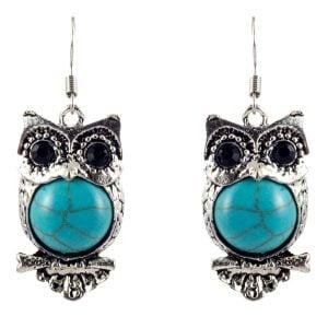 Antique Owl Earrings