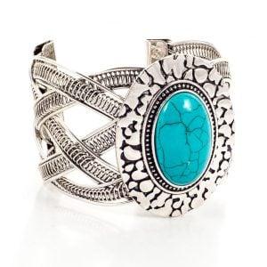Statement Blue Stone Bracelet