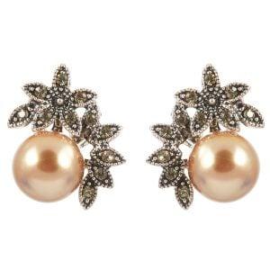 Elegant Golden Pearl Earring