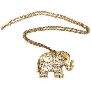 Golden Elephant Charm Necklace