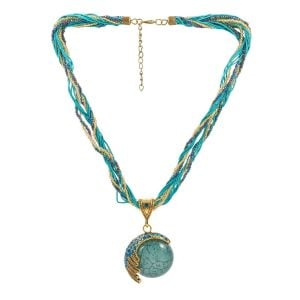 [tag] Blue Stone Necklace