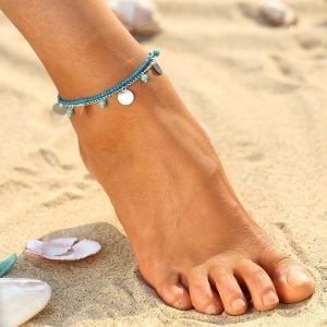 Aqua Dangle Anklet