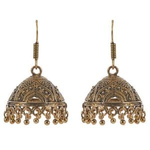 Golden Oxidized Jhumki