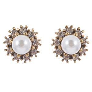 Silver Pearl Studs for Women