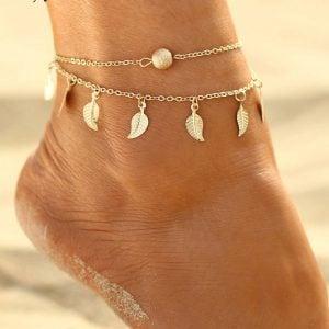 Leaf Anklet for Women