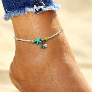 Aqua Blue Anklet for Women