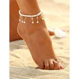 White Anklet for Women
