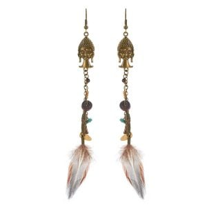Long Buddha Earrings for Women