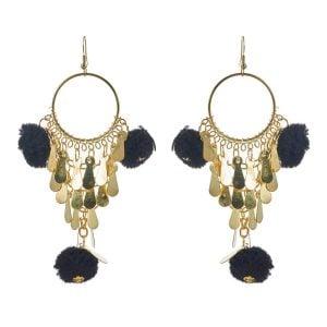 Black Dangle Earrings for Women