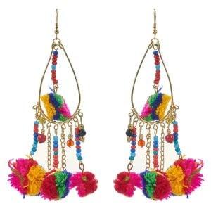 Pom Pom Earrings for Women