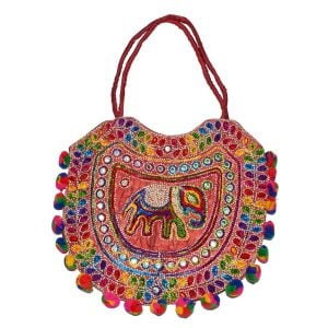 Ethnic Indian Pom Pom Bag