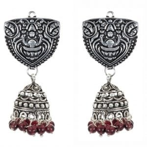 Antique Silver Jhumki
