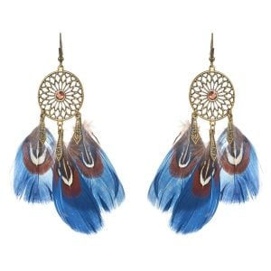 [tag] Dream Catcher Feather Earrings