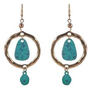 Classy Aqua Earrings