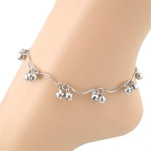 Beautiful Silver Double Bell Anklet