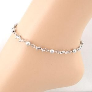 Dolphin Silver Anklet