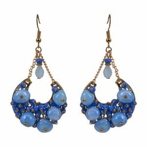 Beach Accessory Aqua Earrings