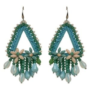 Beach Accessory Aquamarine Earring Set