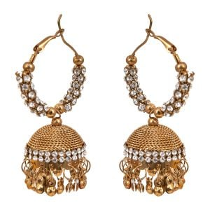 Ethnic Earrings Ethnic Rust Gold Jhumka