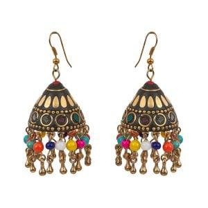 Bohemian Jewellery Colourful Jhumki