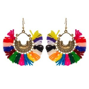 Bohemian Jewellery Colourful Chandbalis