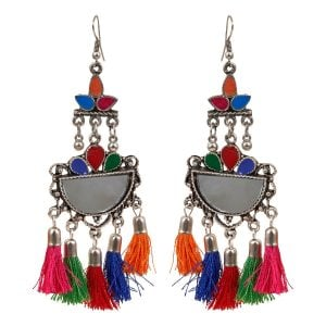 Bohemian Jewellery Long Colourful Earrings