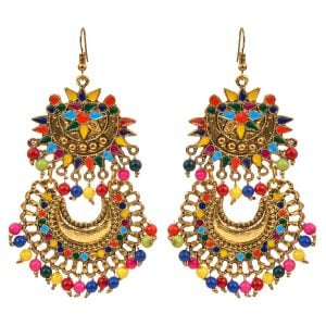 Bohemian Jewellery Colourful Indian Earrings