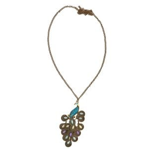 Bohemian Jewellery Peacock Necklace
